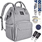 Diaper Bag by Dodo Babies + 2 Pacifier Clips + Pacifier Case, Multi-Function