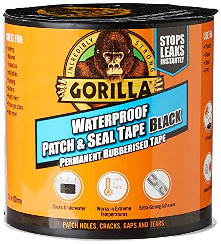 Gorilla Waterproof Patch & Seal Tape Black 100mm x 3m