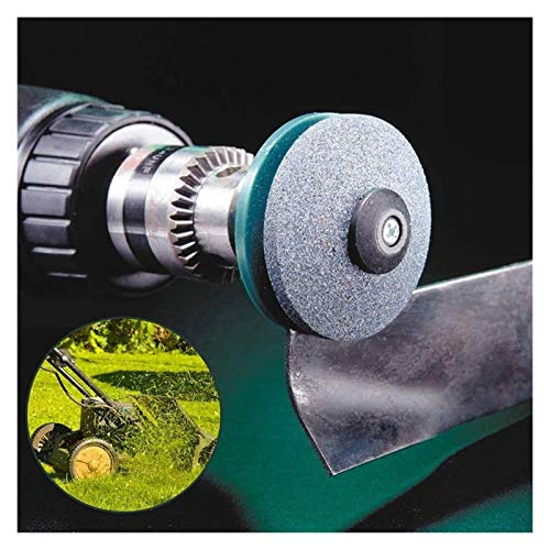 QUJJP Lawn mower accessories 50MM Faster Lawn Mower Sharpener Lawnmower Blade Sharpener Universal Grinding Rotary Drill Cuts Accessories (Color : 1 pc)