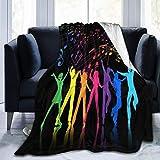 Youth Girl Boies Music Party Throw Blanket Mantas de cama de terciopelo ultra suave Edredón de forro polar ligero Tapiz Decoración del hogar Sofá Manta cálida Alfombra lujosa para hombres Mujeres Niño