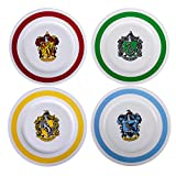 Harry Potter 10.5' Porcelain Dinner Plates Dinnerware Includes 4 Hogwarts Houses (Gryffindor, Slytherin, Hufflepuff, Ravenclaw)