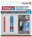 Tesa 1 Clavo Adhesivo Para Lienzo, Blanco, Talla Única