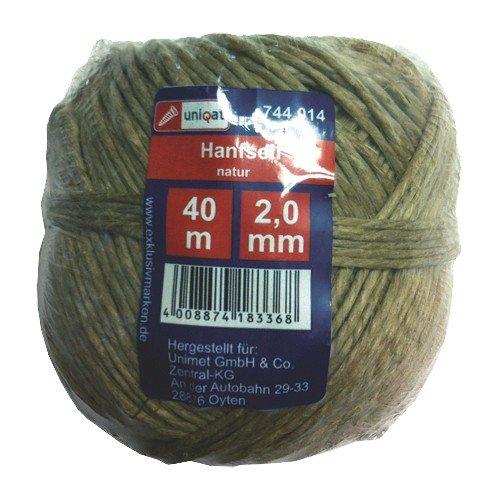 Uniqat cáñamo cuerda, 1pieza, marrón, uq744014