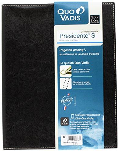 Quo Vadis 68401120MQ Anno 2020 PRESIDENTE SPIRALE IT Madera - 21x27cm - Settimanale - Dic/Dic ANNO CIVILE