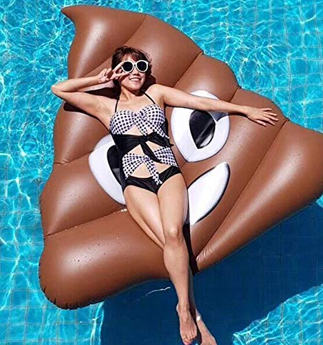 Mopoq Pool Float PVC verdicken Kreative Poop Pool Luftmatratze Aufblasbare Spielzeuge 140 * 130cm aufblasbares Pool