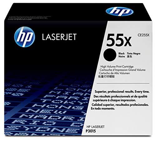 HP 55X | CE255X | Toner Cartridge | Black | Works with HP LaserJet Enterprise 525, P3015, HP LaserJet Pro M521 | High Yield