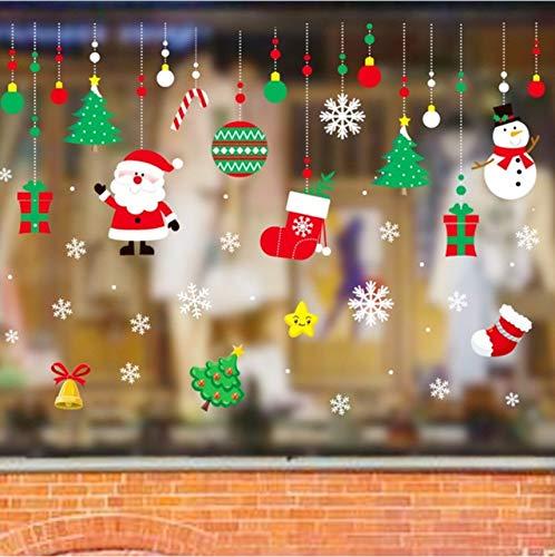 Cczxfcc 50 x 70 cm hoge kwaliteit 2019 Kerstmis afneembare muursticker muursticker ornament raamdecoratie voor thuis