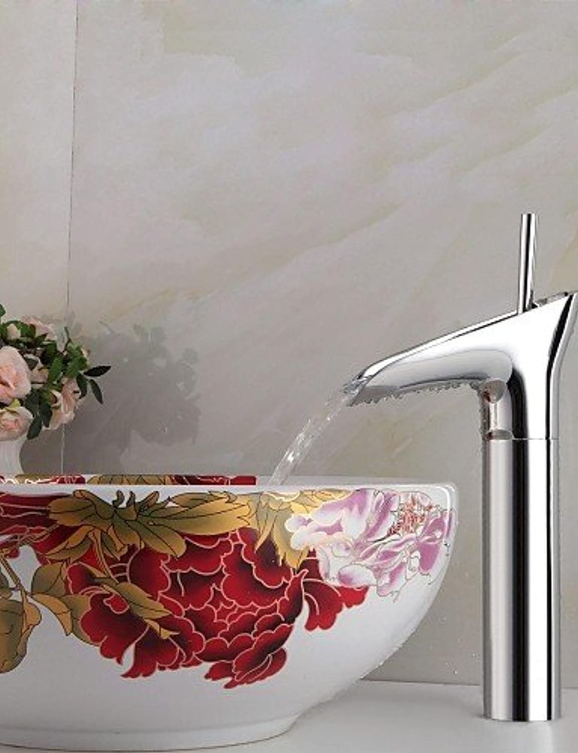 KHSKX Contemporary Winebowl Style Chrome-plated Brass Cold   Hot Water Faucet - Silver
