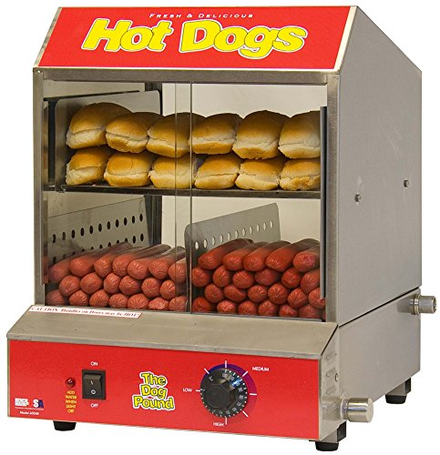 Benchmark 60048 Party Occasion The Dogpound Hotdog Steamer
