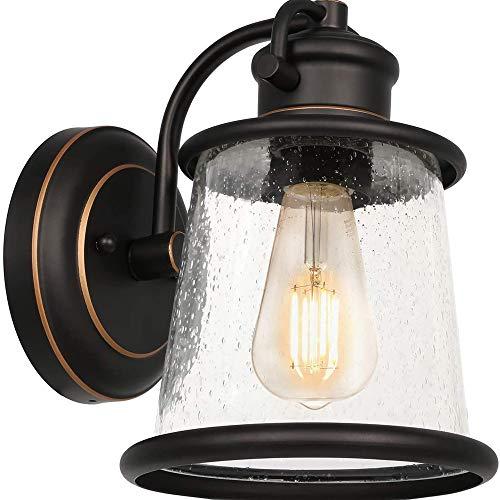 Hines Aplique De Pared, Aplique De Pared Interior Exterior E27 Industria Lámpara De Pared Moderna Acabado Accesorio De Iluminación De Pared Linterna Pared De Vidrio Transparente Luces Jardín Europeas