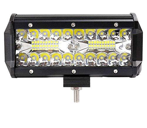 Leetop 120W 36W 180W 72W LED Arbeitsscheinwerfer Off-Road Scheinwerfer Bar Fernlicht 12V-24V Reflektor Lampen IP67 Wasserdicht Zusatzscheinwerfer Flutlicht für Auto Jeep Traktor SUV(120W)