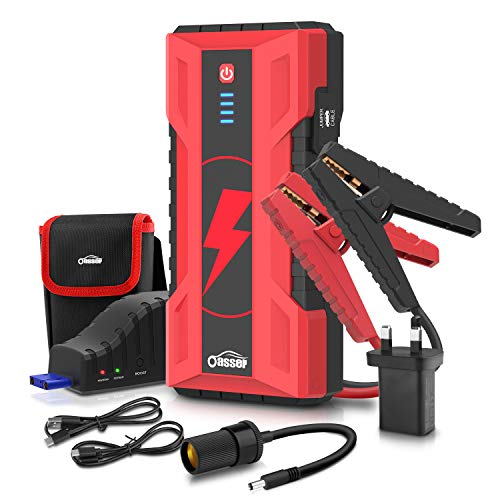 FUVOYA 12V Portable 6000 mAh Car Jump Starter Emergency Battery Charger Power Bank for Devices