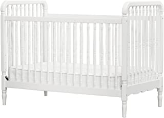 Million Dollar Baby Classic Liberty 3-in-1 Convertible Spindle Crib with Toddler Bed Conversion Kit, White