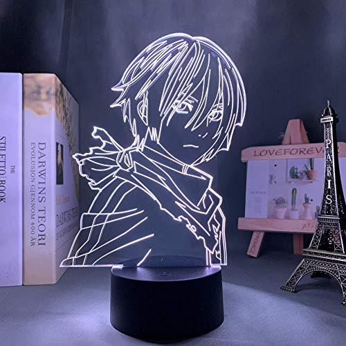 3D ilusión de luz nocturna de Pascua Anime Noragami Yato Figura LED Luz nocturna para dormitorio Decoración Luz Brithday Regalo Manga Noragami Lámpara de mesa 3d Acrílico MAOJIE