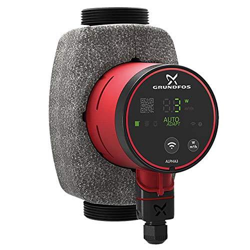 Grundfos Alpha3 HE-Umwälzpumpe 32-60 180 mm mit Bluetooth und Autoadapt Funktion 99371944