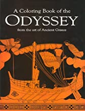 A Coloring book of the Odyssey from the art of Ancient Greece (Greek and English Edition)
