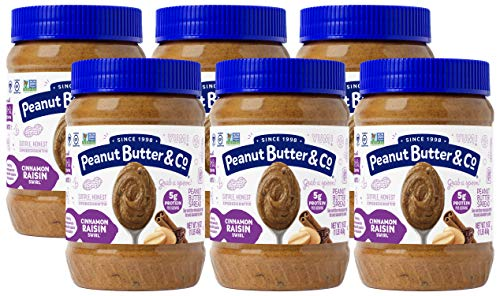 Peanut Butter & Co. Cinnamon Raisin Swirl Peanut Butter, Non-GMO Project Verified, Gluten Free,...