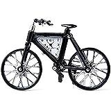 ParaCity (TM) Coupe-Cabriolet/Gitarre/Fahrrad/Flugzeug/Pegasus Pferd Quarzuhr Edelstahlgehäuse rundes Zifferblatt (Fahrrad, schwarz)