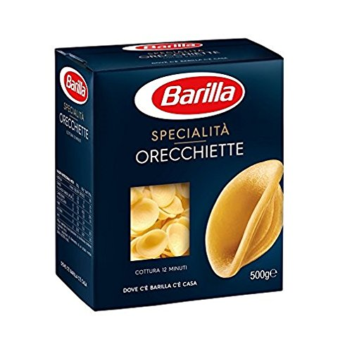 Barilla Lot de 10 boucles d'oreilles pugliesi italienne Pâte 500 g