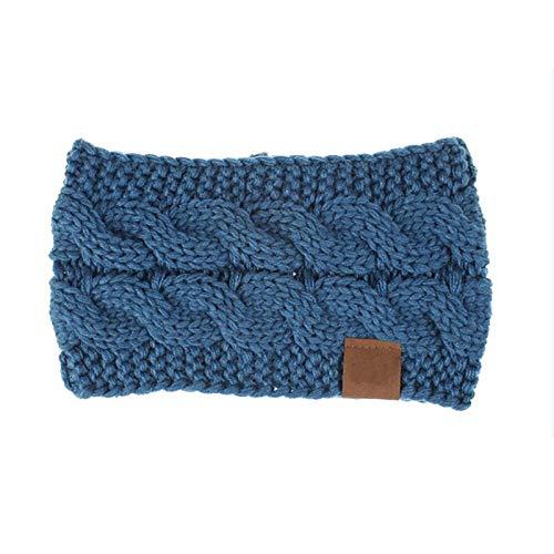 TOOGOO Cyan Printemps Hiver Chauffe Oreille Bandeau Pour Les Femmes En Tricot Crochet Twist Bande De Cheveux Filles Turban élastique Large Accessoires De Cheveux