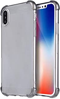 X-level Chariots Series 360 Full Protection Case Cover with Screen Protector for iPhone X in Silver