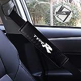 JTAccord Hombro Negro de la Almohadilla del cinturón de Seguridad del Coche de la PU para Honda Civic Type R, Protector del Hombro de la Cubierta del cinturón de Seguridad, 2pcs / Set