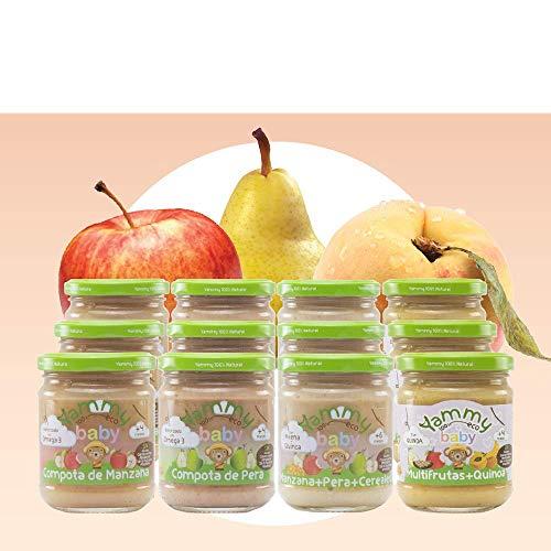 Yammy Primeras Frutas - Pack de 12 Potitos Ecológicos para