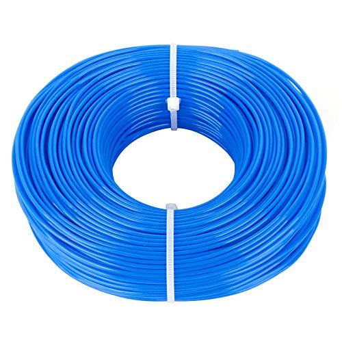 Iyowei 100m x 1.6mm Hilo de Desbrozadora, Hilo para Recortadora Hilo Desbrozadora Hilo para Cortabordes Hilo Desbrozadora 1.6 mm Diámetro en Nylon (Azul, 1.6mm x 100m)