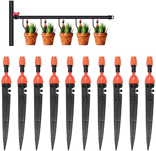 LYTIVAGEN 10 PCS Riego por Goteo Automático Kit Riego por Ggoteo Sistema de Irrigación Ajustable Jardín de Riego por Goteo Niebla Boquillas para Jardin Invernadero Césped Patio Terraza