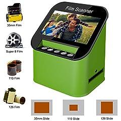 Scanner de diapo et 4.3 pouces TFT ÉCRAN LCD 22MP Tout-In-1-Film Multiscanner pour film/slide, super 8 film, 35mm et 110,126, convertir les diapos à digital et mémoire il sur carte SD