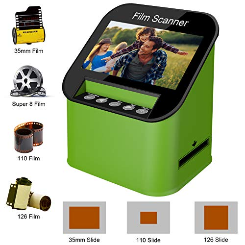 Film Scanner with 22MP High Resolution Slide Scanner Converts 35mm, 110 & 126 and Super 8 Films,...