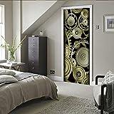 Mural de la puerta extraíble, etiqueta de la puerta 3D, autoadhesivo, decoración de la pared, oficina del dormitorio, decoración de la casa, equipo