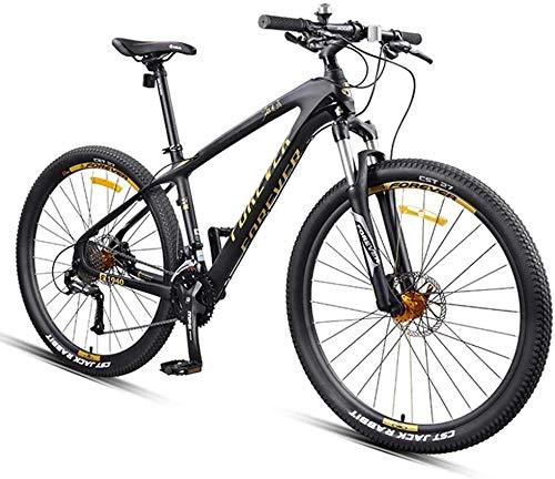 LAZNG 27.5 Pollici Mountain Bike, Fibra di Carbonio Telaio Dual-Sospensione for Mountain Bike, Bici da Uomo for Un Percorso, Trail e Montagne (Colore : Gold)