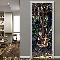 ウォールステッカー&壁画 ドアステッカー自己接着防水ポスター部屋の装飾ウォールステッカー