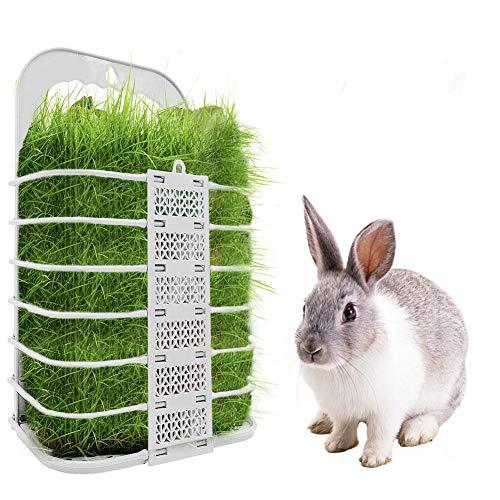 Kitabetty Kaninchen Heu Feeder, Tragbares Kaninchen-Heuraufe Hühnchen-Gemüsekorb Faltbares hängendes Tierfutterregal, Heuspender für Meerschweinchen, Chinchilla, Hamster, 22×12×37cm