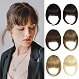 Yamel Clip in Bangs Human Hair Front Fringe French Flat Bangs Hair Extensions Bang Hair Clips for Women