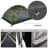 2 Personne Dôme Tente Camping en Plein Air Camouflage...