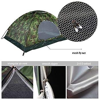 Tente de Camping Camouflage 2 Personnes Protection UV étanche Famille Voyage Festival randonnée extérieur Tente dôme Pliante avec Portable Sac de Transport