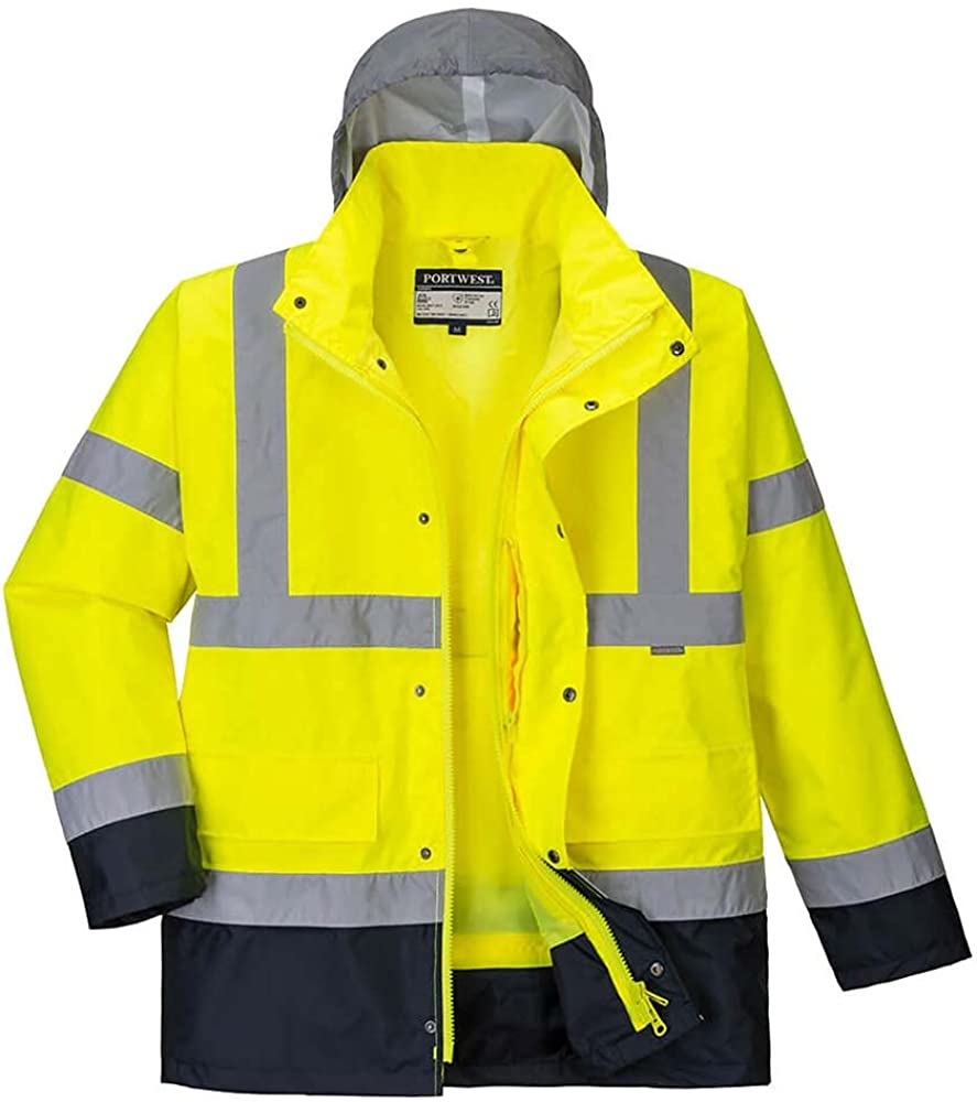 Portwest Workwear Max 48% OFF Mens Hi-Vis Contrast 4in1 Jacket Max 68% OFF
