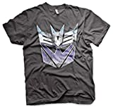 Transformers - Camiseta - Manga Corta - para Hombre Gris Gris Oscuro XXX-Large