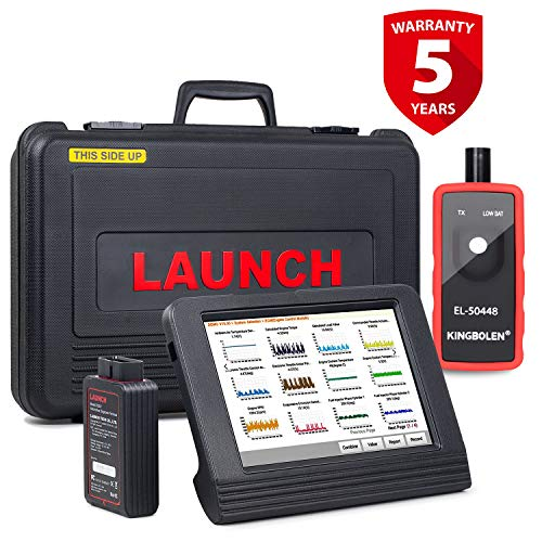 LAUNCH X431 V Pro Bidirectional Scan Tool All System Diagnostic Tool with ECU Coding,Key Programming, Actuation Test, 20 Relearn Reset Services, EL50448 TPMS Tool