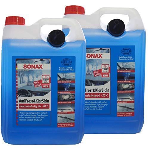 Preisjubel 2 x SONAX AntiFrost&KlarSicht Gebrauchsfertig 5 l, Frostschutz, Enteiser