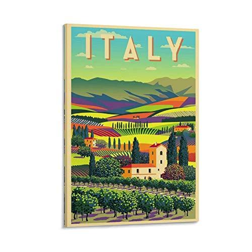 QIFJ Art Deco Posters Impression sur toile Motif Italie 50 x 75 cm