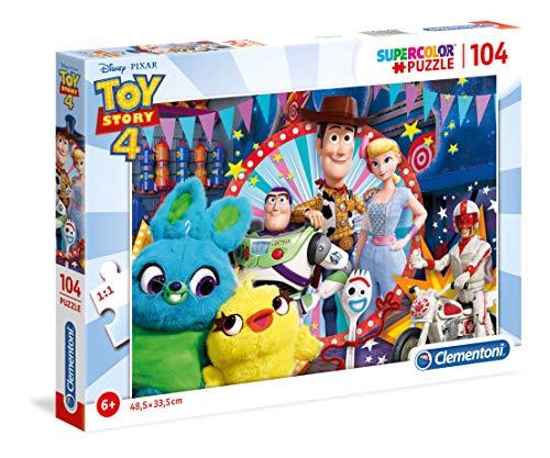 Clementoni- Supercolor Puzzle-Toy Story 4-104 Pezzi, Multicolore, 27276