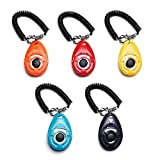 Toozey Lot de 5 Clicker Clicker avec dragonne, clicker avec Grand Bouton, 5 Couleurs