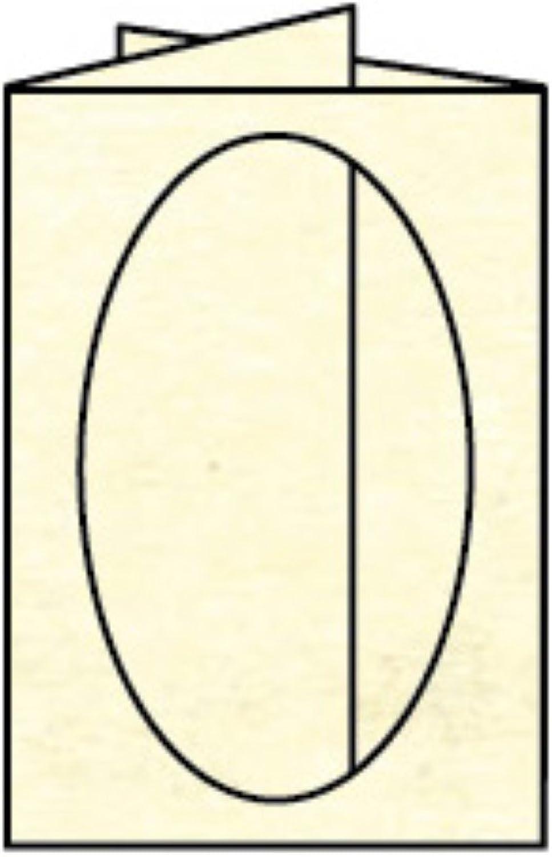 Rössler Papier - - Paperado-5er Pack PP-Karten oval Ft.B6, Chamois Chamois Chamois Marmora - Liefermenge  10 Stück B07CX4VZ3B  | eine breite Palette von Produkten  ef3ad0