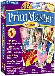 Broderbund PrintMaster Platinum 16.0