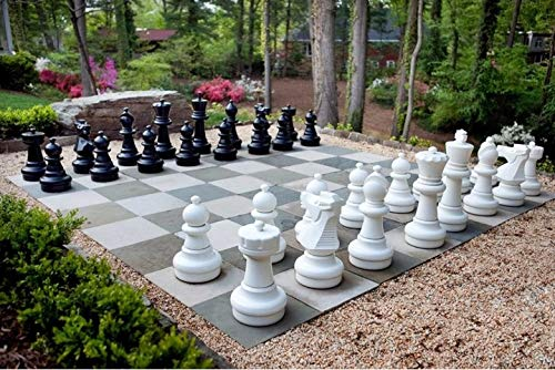 MegaChess Giant Oversized Premium Chess Pieces Complete Set with 25 Inch Tall King - Black and White
