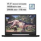2020 Dell G7 17 7790 17.3 Inch FHD Gaming Laptop (9th Gen Intel 6-Core i7-9750H up to 4.50 GHz, 16GB DDR4 RAM, 256GB SSD + 1TB HDD, NVIDIA GeForce RTX 2060, RGB Backlit Keyboard, Windows 10) (Gray)