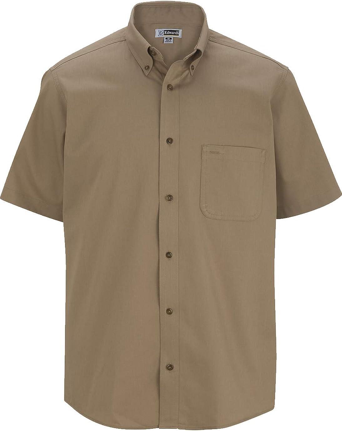 Edwards Men's Cottonplus Short Sleeve Twill Shirt